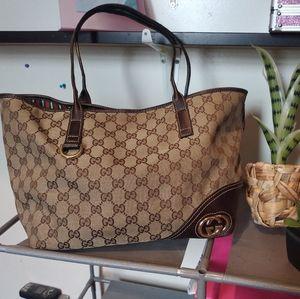 Gucci Britt GG Monogram Tote